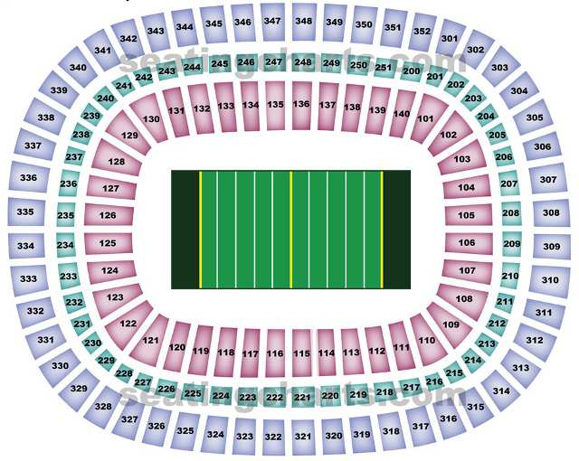 Atlanta Falcons Seating Chart For Georgia Dome
